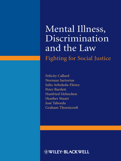 Mental Illness, Discrimination and the Law (eBook): Fighting for Social Justice
